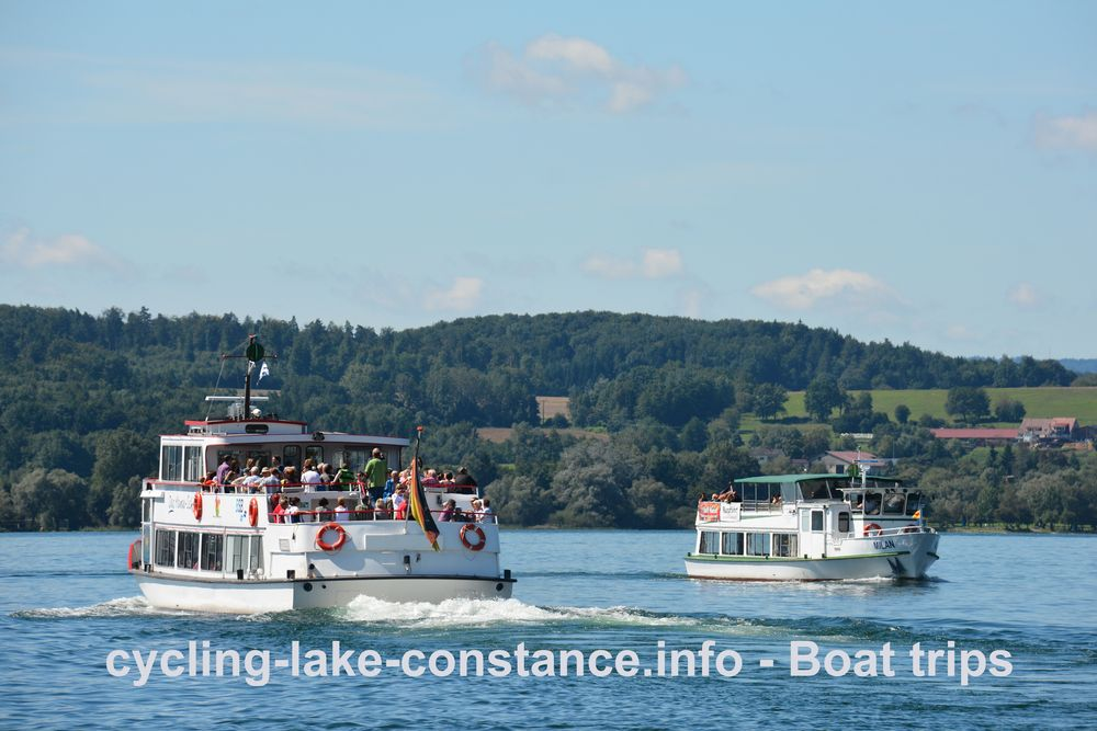 Boat trips on Lake Constance - MS Uhldingen - MS Milan