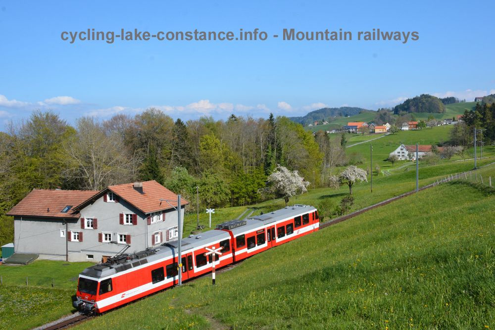 Cycling along Lake Constance - Rorschach-Heiden Rack-and-Pinion Railway