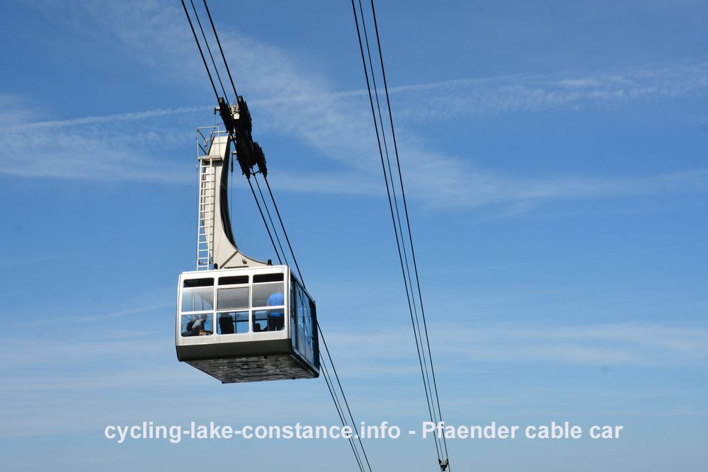Cycling along Lake Constance - Pfaender Cable Car in Bregenz