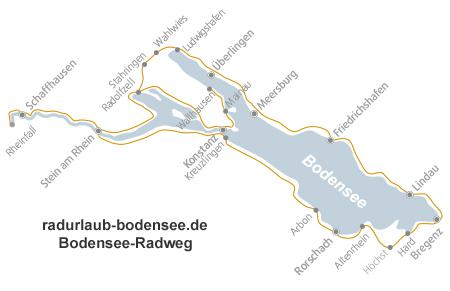 lake constance cycle route map Der Bodensee Radweg lake constance cycle route map